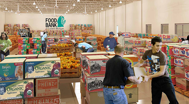 food bank of eastern michigan salvation army holding eastern michigan food bank food