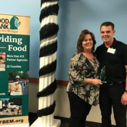 Food Bank of Eastern Michigan inducts two new members to the Edward A. Mitchell Million Pound Club